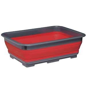 Kitchen Craft Colourworks Bassine pour vaisselle pliante Rouge