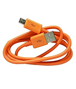 Mobilefit Lyf F1S COMPATIBLE USB Data Cable/Charging Cable/Data Sync Cable/Portable Cable/Mobile Charging Cable/Fast Charging Cable (ORANGE)