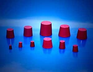 Gummistopfen f/ür Flaschen Gummistopfen 27//21mm ROT Gummist/öpsel Gummi Pfropfen Gummi Korken Gummi Stopfen Gummi Kork Silikon Stopfen Flaschenkorken