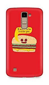 Amez designer printed 3d premium high quality back case cover for LG K10 (Funny Burger)