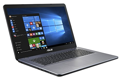 ASUS VivoBook 17 F705UA (90NB0EV1-M05320) 43,9 cm (17,3 Zoll, FHD, WV, matt) Notebook (Intel Core i5-8250U, 8GB RAM, 256GB SSD, Intel UHD-Grafik 620, Windows 10) Star Grey
