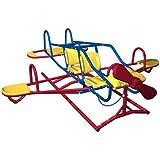 Lifetime Outdoor Kinder Wippe Flugzeug für Garten blau-rot, 151110
