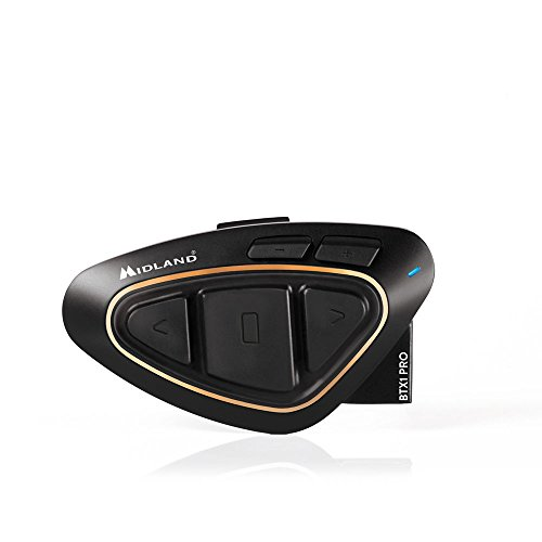 Midland BTX1 Pro - Intercomunicador Moto, Color Negro