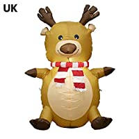 cineman Moose Inflatable Model Inflatable Christmas Decoration Christmas Moose Inflatable Model With Light 12V Height 1.2 M Suitable For Christmas Party Costume Ball sweetie