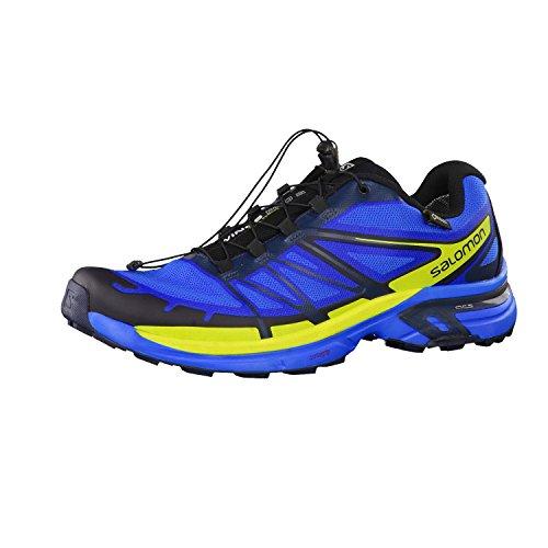 Salomon Wings Pro 2 GTX - Chaussures de running - jaune/bleu 2016 bright blue/gecko green/deep blue