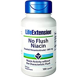 Life Extension, No-Flush Niacin, 800mg, 100 Kapseln