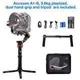 Gimbal Accsoon tech A1-S Professionelle 3-Achsen-Kamera-Gimbal + Dual Hand-Grip and Tripod