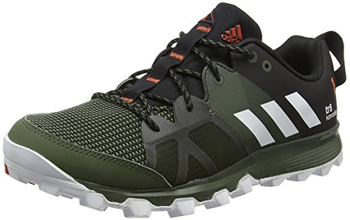 adidas Uomo Kanadia 8 Tr M scarpe da corsa, Multicolore (Base Green /ftwr White/core Black), 42 EU