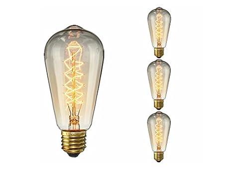 Vintage-Edison-Glühlampe 25W-ST64 Antike Glühfaden Wrap Style-E27 Medium-Basis Kronleuchter Lighting Glühbirnen