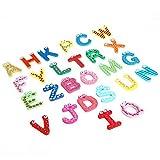 Minzhi 1 Borsa Magnetica Inglese Lettera Frigorifero Sticker dei Bambini dei Bambini del Fumetto Resina cognitivi Early Learning La Formazione Gioca
