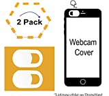 2x Handy Webcam Cover | Für SISWOO A4 Chocolate | Webcam Abdeckung | 2x WB Weiß