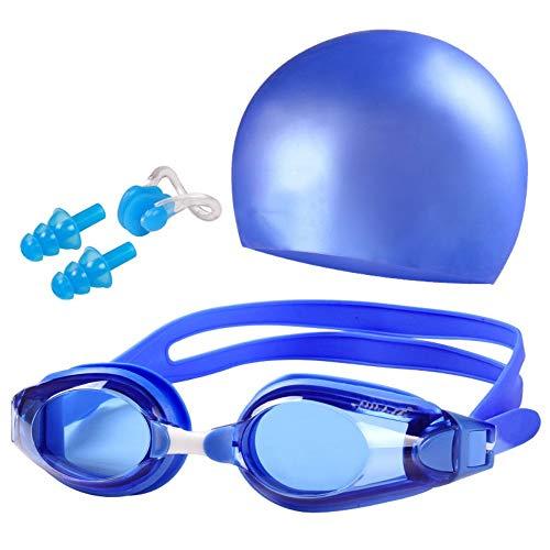 MHP Myopia-Anzug, Schwimmbrille, Schwimmbrille, Silikonkappe, blau, -7,5 - Schwimmen Speedo-anzüge