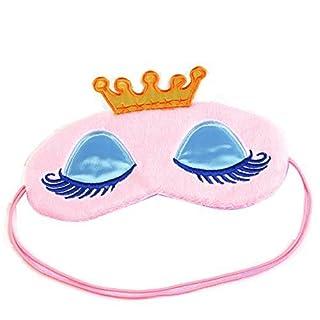 ANKKO Cartoon Krone Ruhe Entspannen Schlafmaske Augenmaske Augenabdeckung (Rosa)