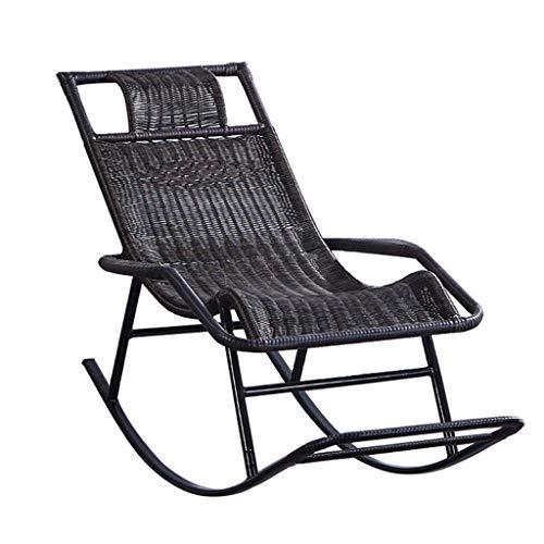 Sedia a sdraio sedia a dondolo in giunco, poltrona da sole a sdraio for giardino patio sedia a sdraio a sdraio da spiaggia relax poltrona reclinabile con poggiapiedi lettino reclinabile max.150kg in