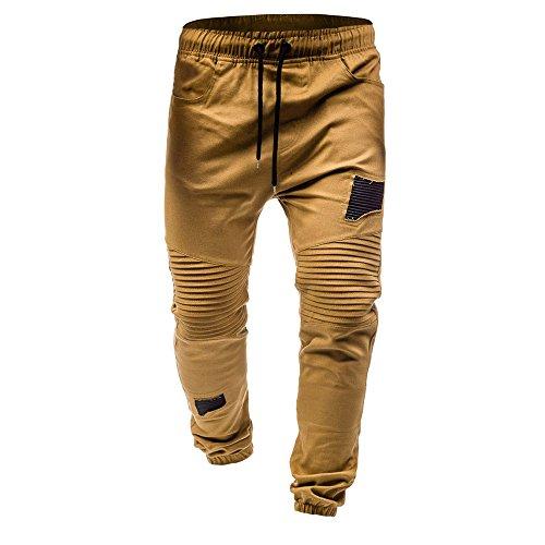 YanHoo Pantalones chándal clásicos Cordones Hombres