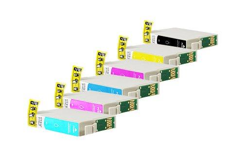 Preisvergleich Produktbild Inkadoo® XXL Tinte passend für Epson Stylus Photo PX 820 FWD ersetzt Epson BT0801 , T0801 , T0801-0806 C13T08014010 - C13T08064010 , C13T08014011 , T 080140 - 20x Premium Drucker-Patrone Kompatibel - 0