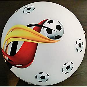 Deckenleuchte/Wandlampe * Fußball 2 * auch LED - mit/ohne Name