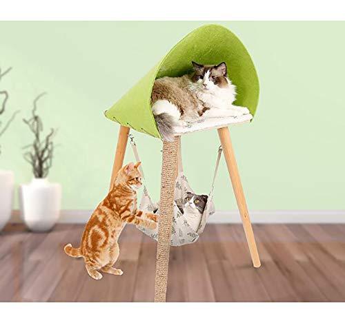 Ahn Cat Scratcher Lounge Faltbares Scratcher-Spielzeug aus Pappe mit Tinkle Ball & Catnip. Tragbares, hochdichtes, recyceltes Kitty-Scratching-Pad aus Wellpappe. Katzen-Turbo-Spielzeug,Green (Katze Spielzeug Turbo Scratcher)
