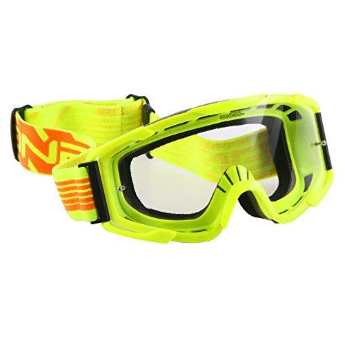 O'Neal B2 RL Goggle MX THREESIXZERO NEON Gelb Klar Moto Cross Enduro Cross Motorrad Downhill Brille, 6032T-101