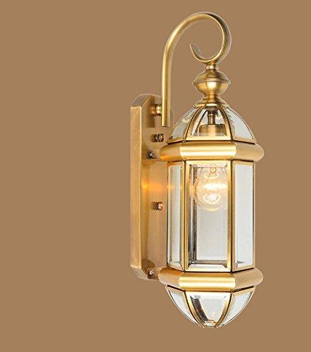 GBYZHMH Lampe Murale en verre étanche extérieur éclairage mode rétro éclairage art jardin village