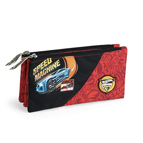 Mattel GmbH - Estuche Escolar Triple Hot Wheels