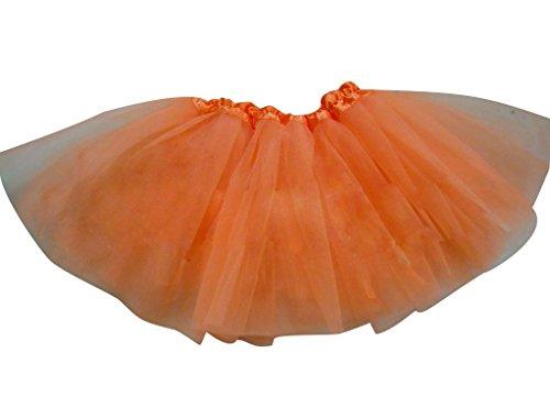 Tütü Damen Tüllrock Mädchen Ballet Tutu Rock Kinder Petticoat Unterrock Ballett Kostüm Tüll Röcke Festliche Tütüs Erwachsene Pettiskirt Ballerina Petticoat Für Dirndl Orange Erwachsene