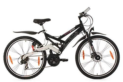 KS Cycling Fahrrad Mountainbike ATB Fully For Masters, Schwarz, 26 Zoll, 185M