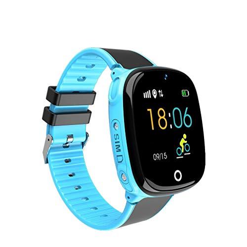 AnSuu Intelligente Uhr Für Kinder Die Telefonuhr-Foto-Lernuhr-Karte Der Intelligenten Kinder Der Kinder (Farbe : Blau)