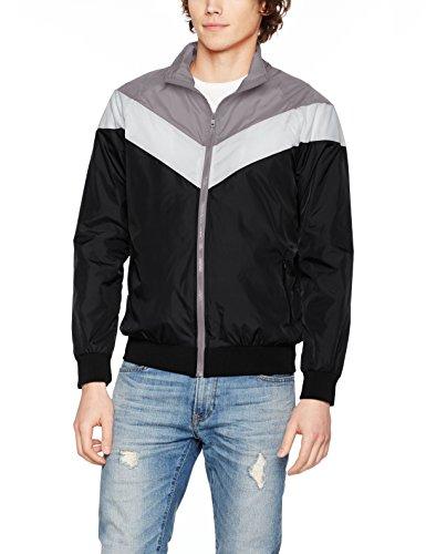 Urban Classics Herren Jacke Arrow Zip Jacket Mehrfarbig (blk/darkgrey/lightgrey 860)