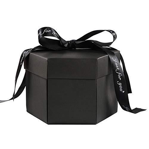 lā Vestmon DIY Explosion Foto Box, Innovative romantische DIY Fotoalbum Box sechseckigen Multilayer überraschende Geschenkbox für Hochzeit Geburtstag Jahrestag Valentinstag