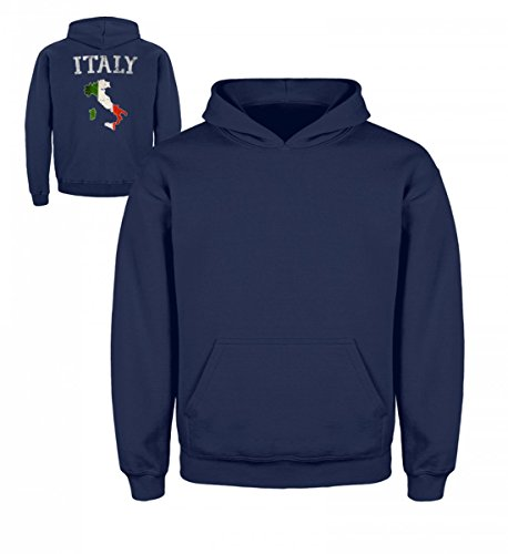 Hochwertiger Kinder Hoodie - Italy Italia Italien Flagge Vintage Stolz Geschenk (Stolz Vintage-shirts)