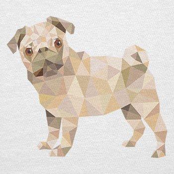 Texlab–Poly Pug–sacchetto di stoffa Bianco