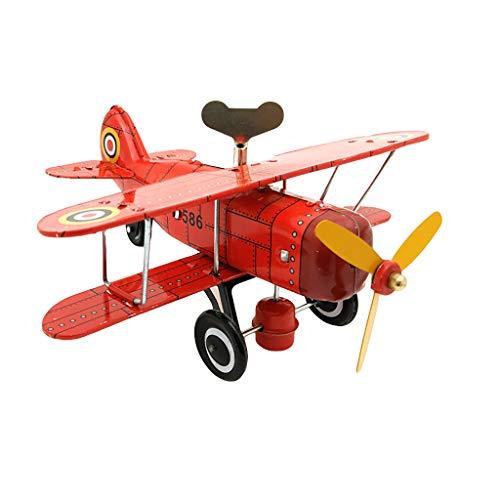 rop Aircraft Modell MS454 Weiß blech Nostalgisch Uhrwerk Kette Spielzeug ()