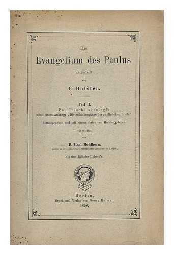 das-evangelium-des-paulus-die-gedankengaange-der-paulinischen-briefe-t2-paulinische-theologie-nebst-