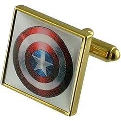 Capitán América héroe Gemelos de oro con una selección de bolsa de regalo