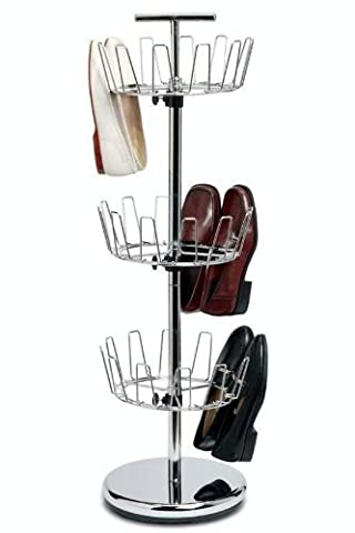 Chrome Revolving Shoe Tree, 3-TIER, CHROME by Home Decorators Collection