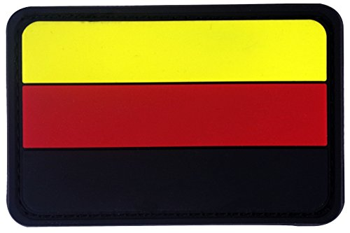 Colored Germany Flag PVC Rubber 3D Hook&Loop Touch Fastener Patch Tactical Patch by Seibertron