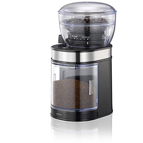 Melissa–Molinillo de café eléctrico con Gratis Jarra Medidora de Oramics, molinillo de café para recién Café molido, molinillo de café para Hogar negro/transparente