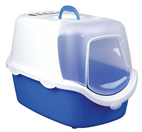 trixie-vico-easy-clean-bandeja-para-arena-de-gato-con-cupula-40-x-40-x-56-cm-color-azul-blanco