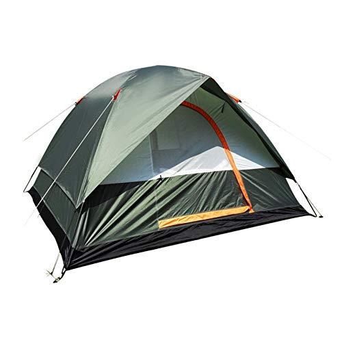 VCB wasserdichte Camping Wandern Polyester Oxford Tuch Dual Layer Zelt 4 Personen - grün - Vorhang Grüne Rod