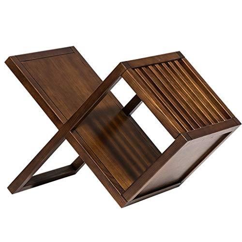 Rangements colonnes Porte-revues en Bois créatif de Support de Magazine rétro en Bois de Support de Magazine, Support de Magazine (Color : Wood, Size : 65 * 38 * 45cm)