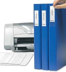 3L Porte-étiquettes auto-adhésif en polypropylène avec insert imprimables Cartes 35x 75mm Réf 10321[Lot de 48]