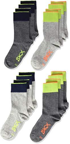 Skechers Socks Jungen Socken SK41004000 8er Pack, Grau (Fog 0049) 39