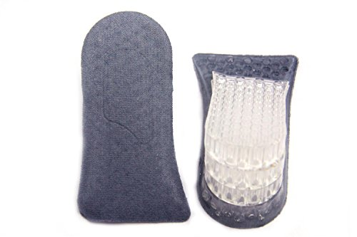 FreshGadgetz 1 Paio di Soletta in gel silicone a 4 strati (Grigio) - Solette Scarpe Per Altezza - Solette Per Scarpe Con Tacco - Solette Rialzate / Solette