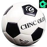Ballon De Football Taille Officielle Taille 5 Football pour Garçon, Fluorescent Bright After Sun Shine, PU Glow dans Le Dark Soccer