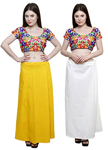 Pistaa combo of Women's Pure Cotton Yellow and Off White Color Best...