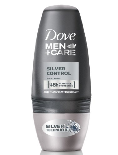 Dove Deo Roll-On Men und Care Sil.Control, 6er Pack (6 x 50 ml) -