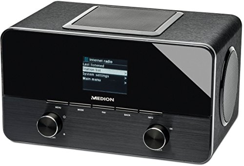 MEDION LIFE P85025 (MD 86955) 2.1 Wireless LAN Internet Radio (DAB+, UKW, 2.1 Sound, DLNA, 20 Watt, WLAN, RJ45, USB, MP3, WMA) schwarz