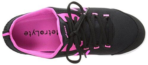 ASICS Womens Metrolyte Walking Shoe Black/Flash Pink/White