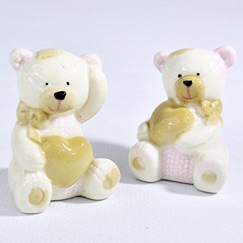 Albalù italia bomboniere nascita battesimo bambina orsetto in ceramica grande
